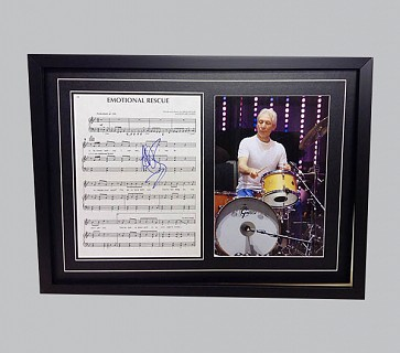 "Charlie Watts ""Emotional Rescue"" Signed Music Sheet"