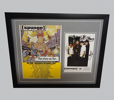 Spunge Signed Music Memorabilia Display
