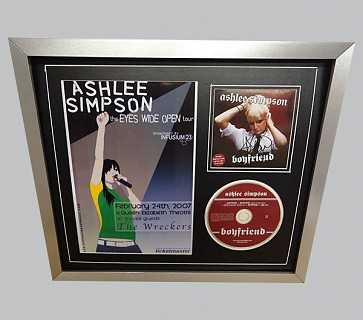 Ashlee Simpson Signed Pop Music Collectible