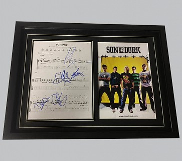 "Son of Dork ""Boy Band"" Signed Music Sheet"