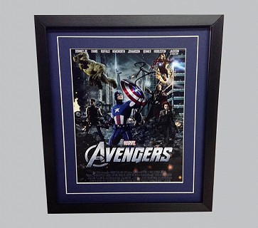 Avengers Signed Colour Movie Poster