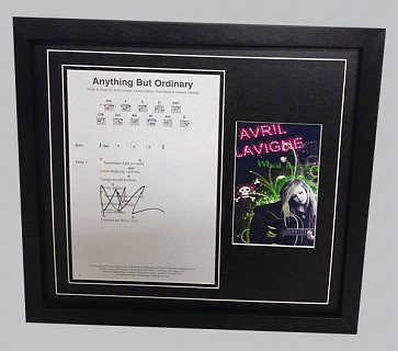 "Avril Lavigne ""Anything But Ordinary"" Signed Music Sheet"
