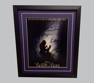 Beauty & The Beast Signed Colour Movie Poster