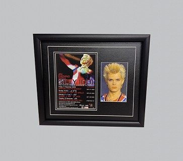 Billy Idol Signed Concert Poster + Colour Photo