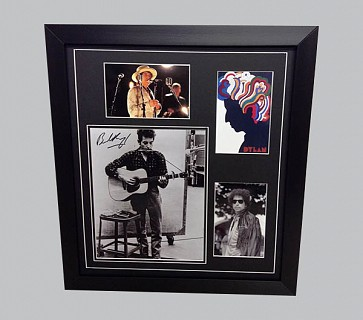 Bob Dylan Signed Memorabilia Display