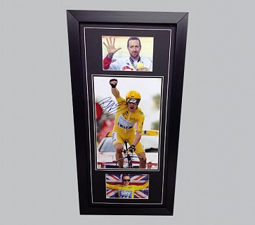 Bradley Wiggins Cycling Memorabilia Display