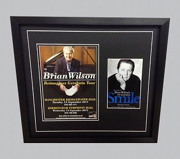 Brian Wilson Signed Concert Poster + Colour Poster