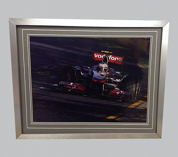 Jenson Button Signed Colour Photo