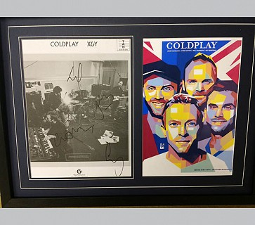 Coldplay X&Y Signed Poster