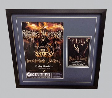 Cradle of Filth Signed Metal Memorabilia