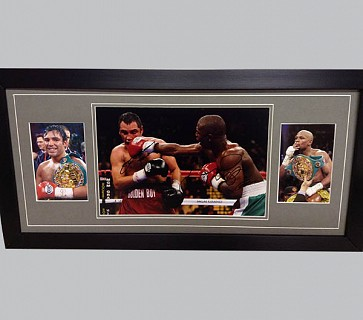 Oscar De La Hoya & Floyd Mayweather Signed Photo