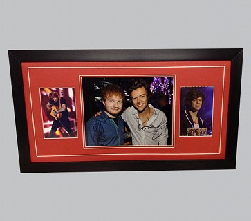 Ed Sheeran & Harry Styles Signed Colour Photo