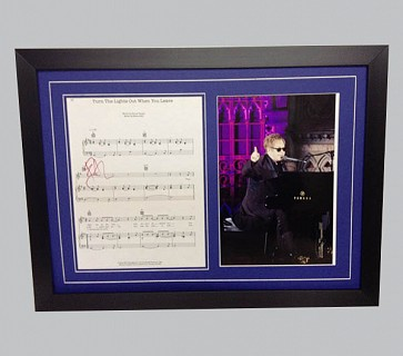 "Elton John ""Turn The Lights Out When You Leave"" Signed Song Sheet"