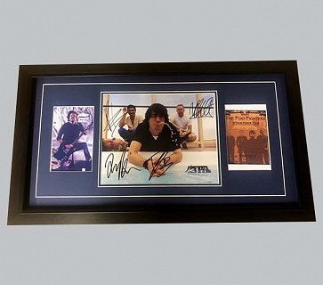 Foo Fighters Signed Colour Photo + Photo & Concert Poster