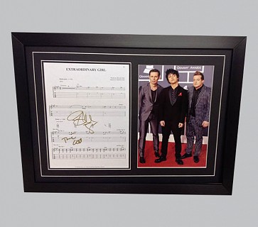 "Green Day ""Extraordinary Girl"" Signed Music Sheet"