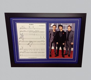 "Green Day ""Maria"" Signed Music Sheet"