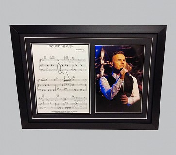"Gary Barlow ""I Found Heaven"" Signed Song Sheet + Photo"