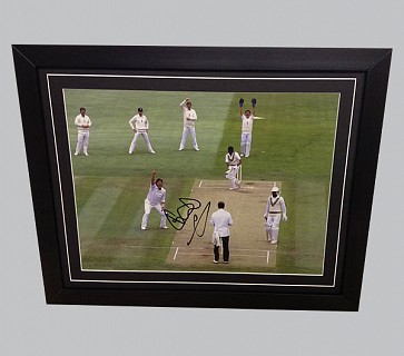 Ian Botham Signed England Cricket Colour Photo