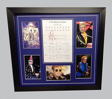 "Elton John ""If The River Can Bend"" Signed Music Sheet + Photos & Poster"