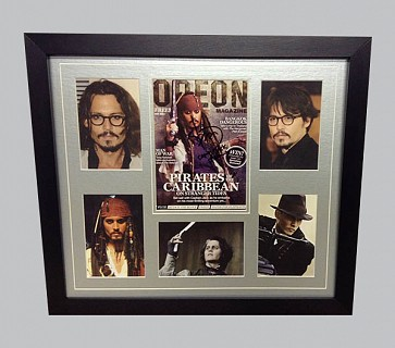 "Johnny Depp ""Pirates of The Caribbean"" Signed Magazine Cover + 5 x Photos"