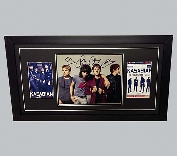 Kasabian Signed Colour Photo + Band Photo & Tour Poster
