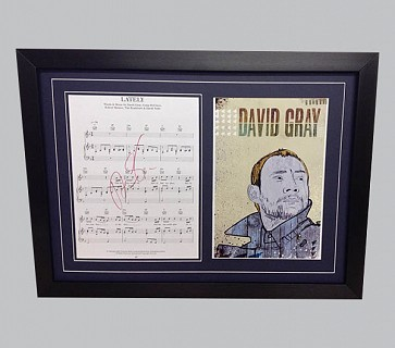 "David Gray ""Lately"" Signed Song Sheet"