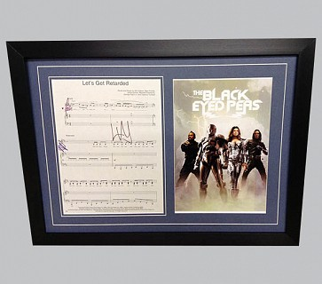 "The Black Eyed Peas ""Let's Get Retarded"" Signed Music Sheet"