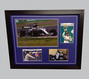 Lewis Hamilton Signed Colour Photo + 3 Photos