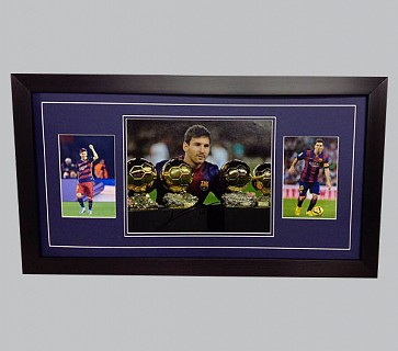 Lionel Messi Signed Barcelona FC Colour Photo