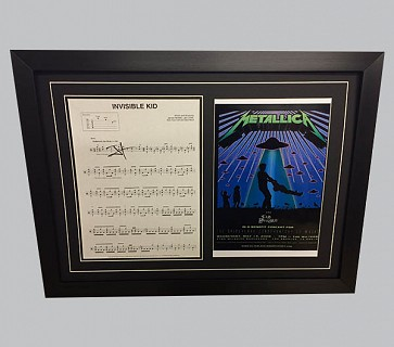 "Metallica ""Invisible Kid"" Song Sheet Signed by James Hetfield"