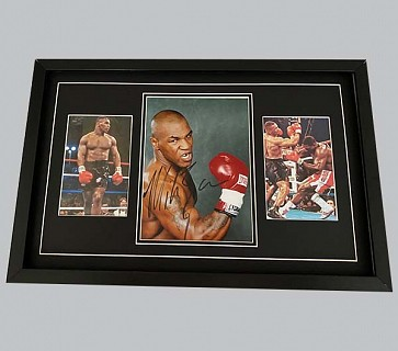 Mike Tyson Signed Colour Photo + 2 Colour Photos