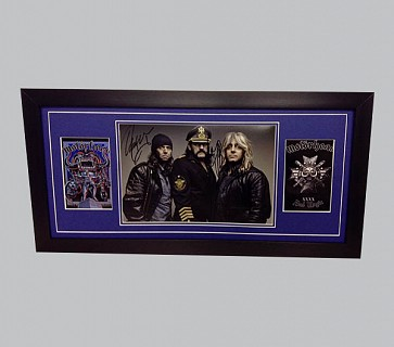 Motorhead Signed Colour Photo + 2 Posters