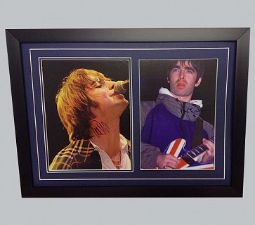 Liam Gallagher Signed Concert Photo + Noel Gallagher Signed Concert Photo