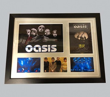 "Oasis ""Lyla!"" Signed Music Poster + 3 Colour Photos + B&W Photo"