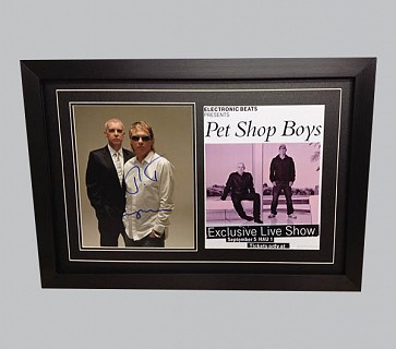 Pet Shop Boys Signed Photo + Poster