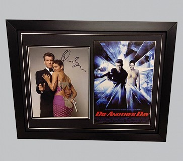 James Bond Colour Photo Signed by Pierce Brosnan & Halle Berry