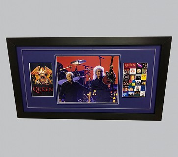 Queen Photo Signed by Roger & Brian + 2 Colour Posters