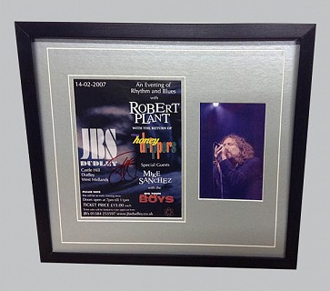 Robert Plant Signed Concert Flyer + Colour Photo