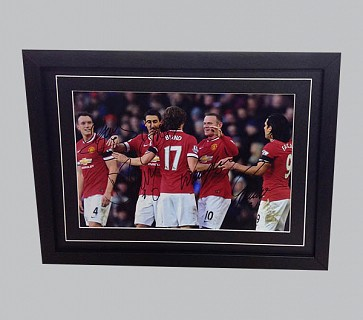 Rooney, Di Maria, Blind, Falcao & Jones Man Utd Photo