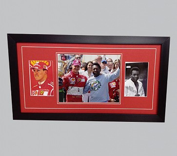 Schumacher and Pele Signed Colour Photo + 2 Photos