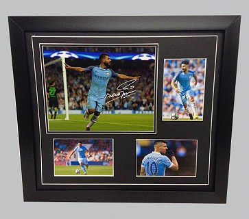 Sergio Aguero Man City Colour Photo Display