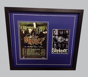 Slipknot Signed Tour Poster + B&W Poster