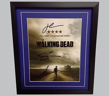 The Walking Dead Signed Colour TV Poster