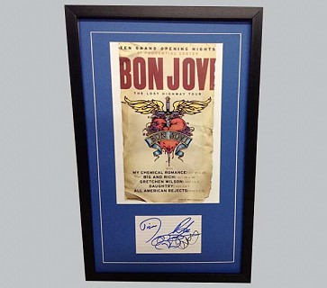 Bon Jovi Signed Postcard + Colour Tour Poster